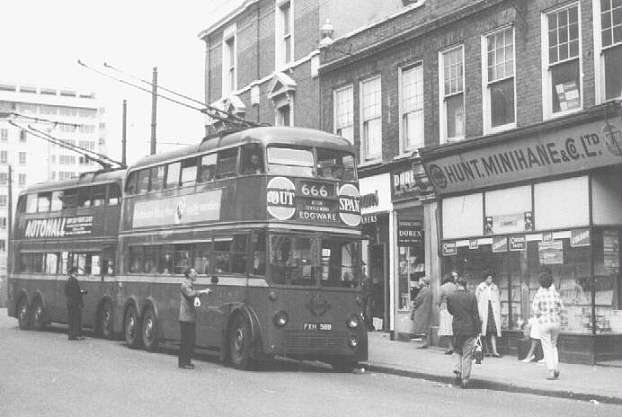 Trolleybus 1569 at Hammersmith