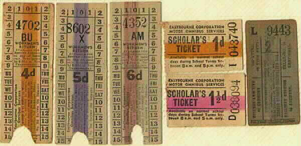 Old Fashioned Bus Tickets