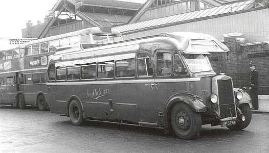 The first Tiger coach bought new by Southdown, 1001