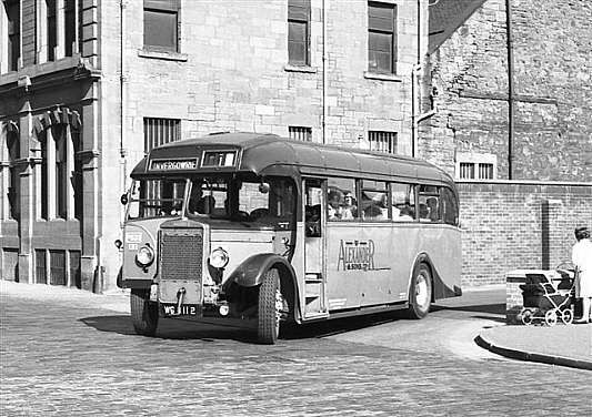 Image result for bus in 1940s scotland
